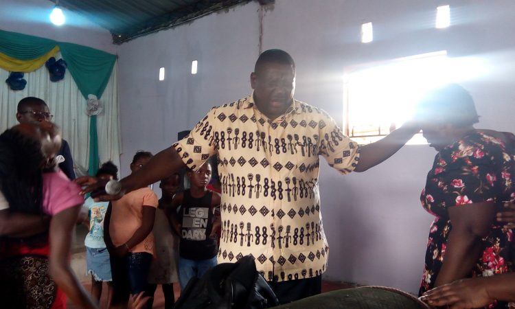 Bishop Bubala ministering deliverance